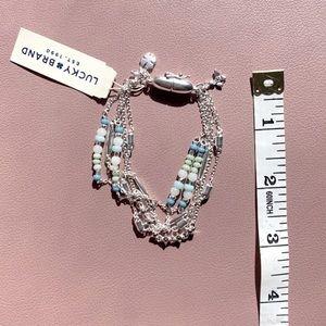 NWT LB Silver/Precious & silver layer bracelet